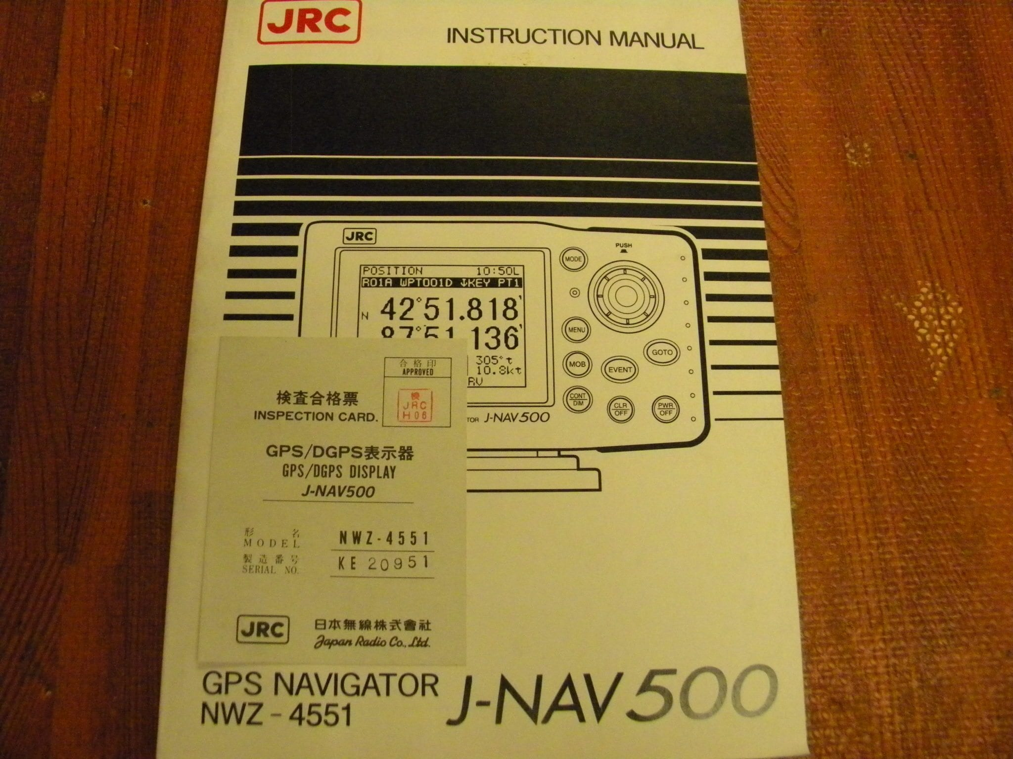 jrc gps navigator nwz 4551 j nav 500 instruction manual max marine rh maxmarineelectronics com Trimble GPS GPS Estimated Position Error
