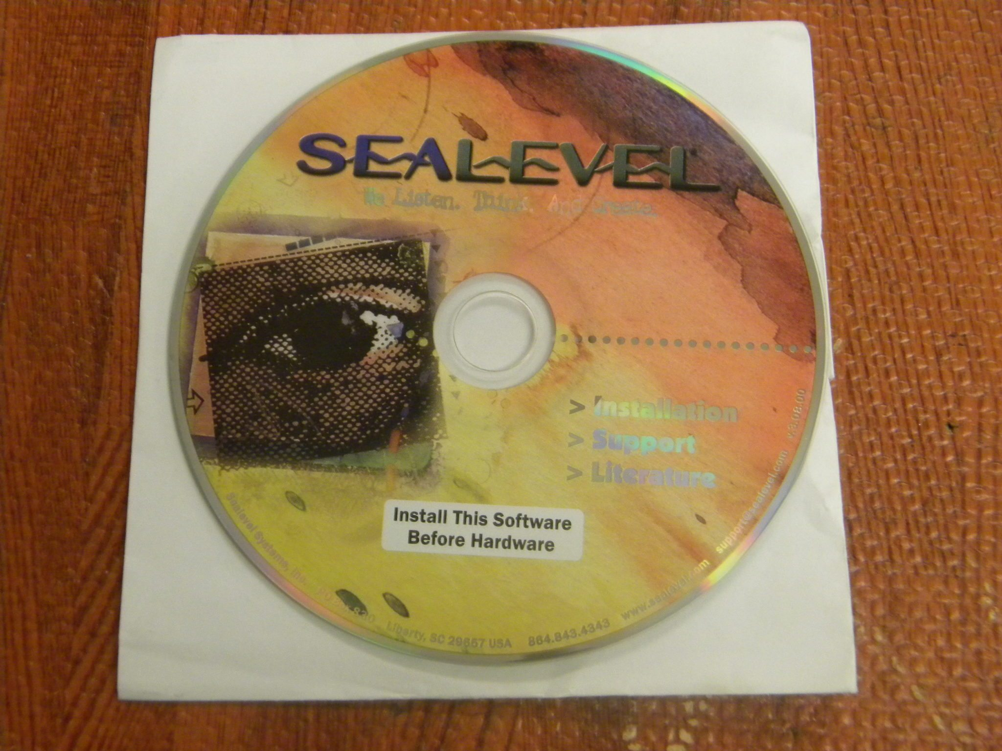 Sea Level Installation & Support Software CD