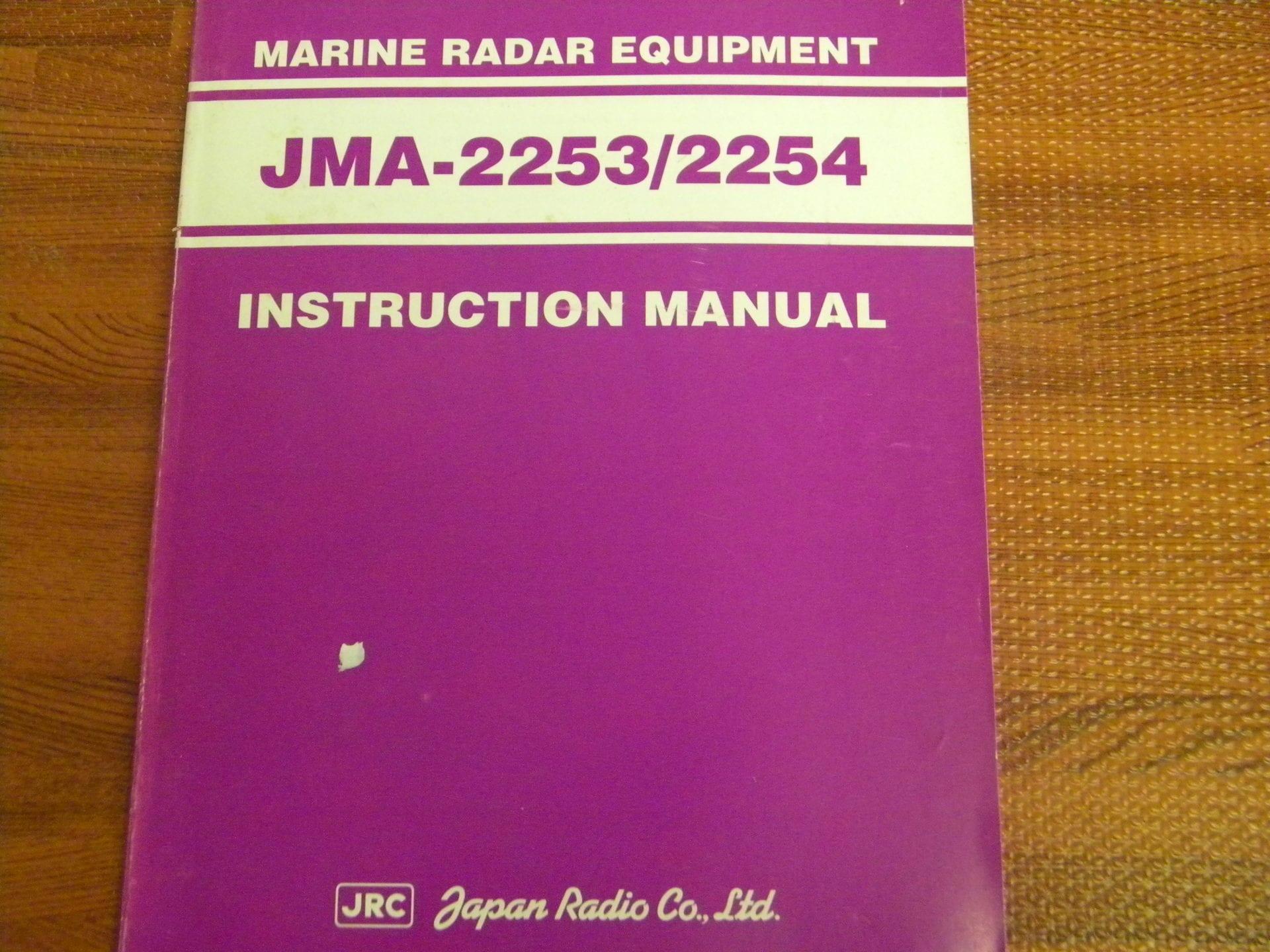 JRC JMA-2253/2254 Instruction Manual