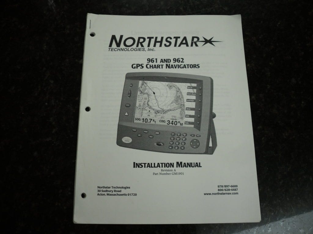 Northstar 961 & 962 GPS Chart Navigators Installation Manual Rev A PN  GM1901 - Max Marine Electronics