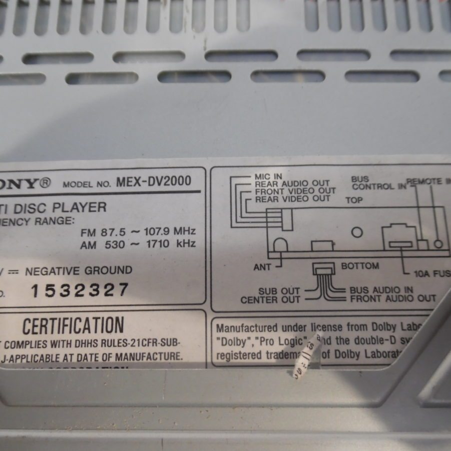 Sony Mex Dv2000 Car Stereo Wiring Diagram Great Installation Of Harness Color Code Library Rh 92 Skriptoase De