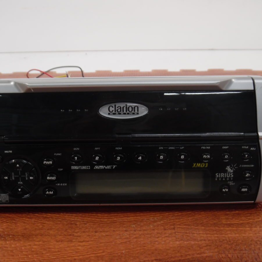 Clarion Marine Radio Xmd3 Sirius Wiring Diagram Stereo Head Unit Bench Tested Bad Dirty Cd Drive