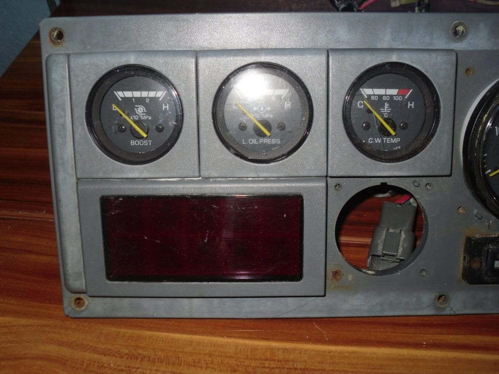 Yanmar Gauge Ignition Cluster with Attached Wires - Condition Unknown