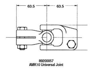 Lewmar 89200057 AMK10 (Mamba BH10) Universal U Joint - NEW - Max Marine  Electronics