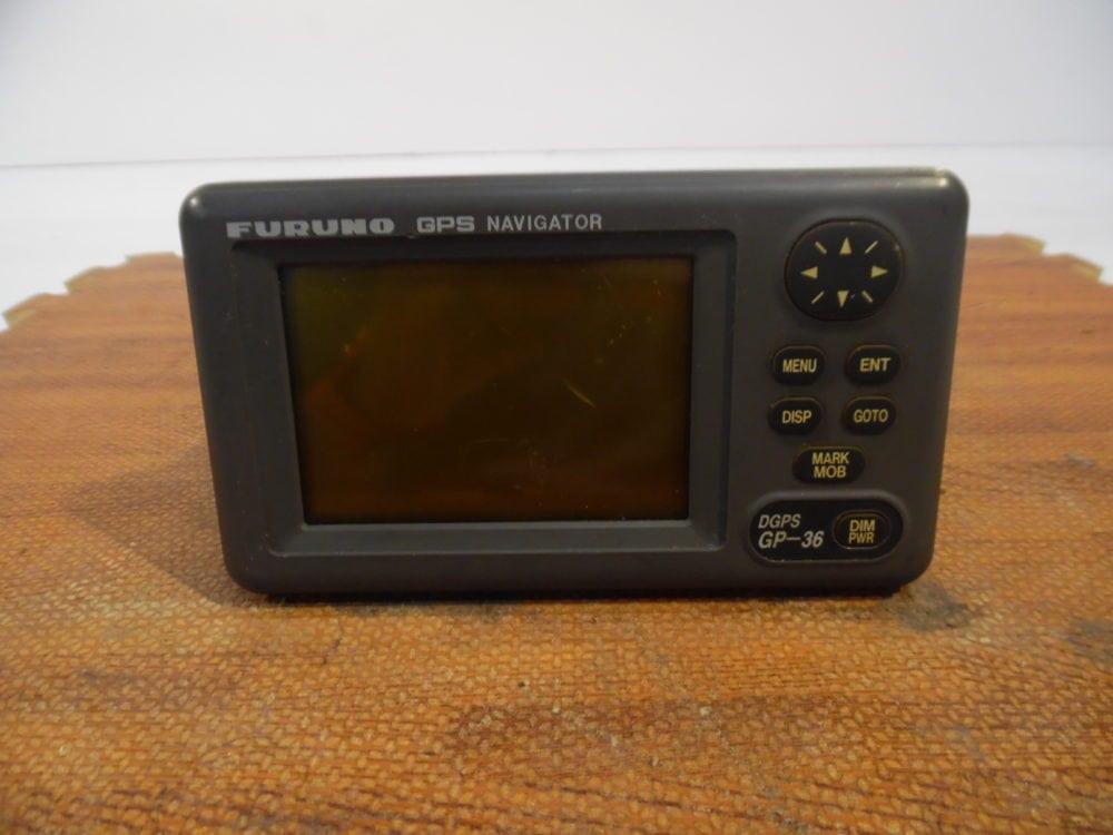 Furuno GP-36 DGPS GPS/WAAS Navigator Display - Few Lines in Screen