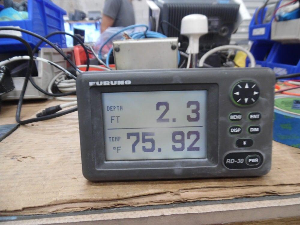 Furuno RD-30 NMEA 0183 Repeater Display - SCREEN HAS BURN'T SPOT