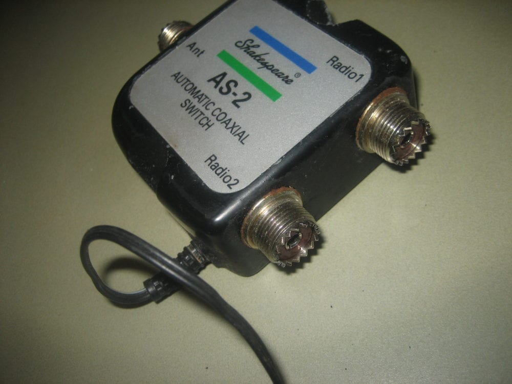 SHAKESPEARE AS-2 AUTOMATIC COAXIAL SWITCH 1 ANT 2
