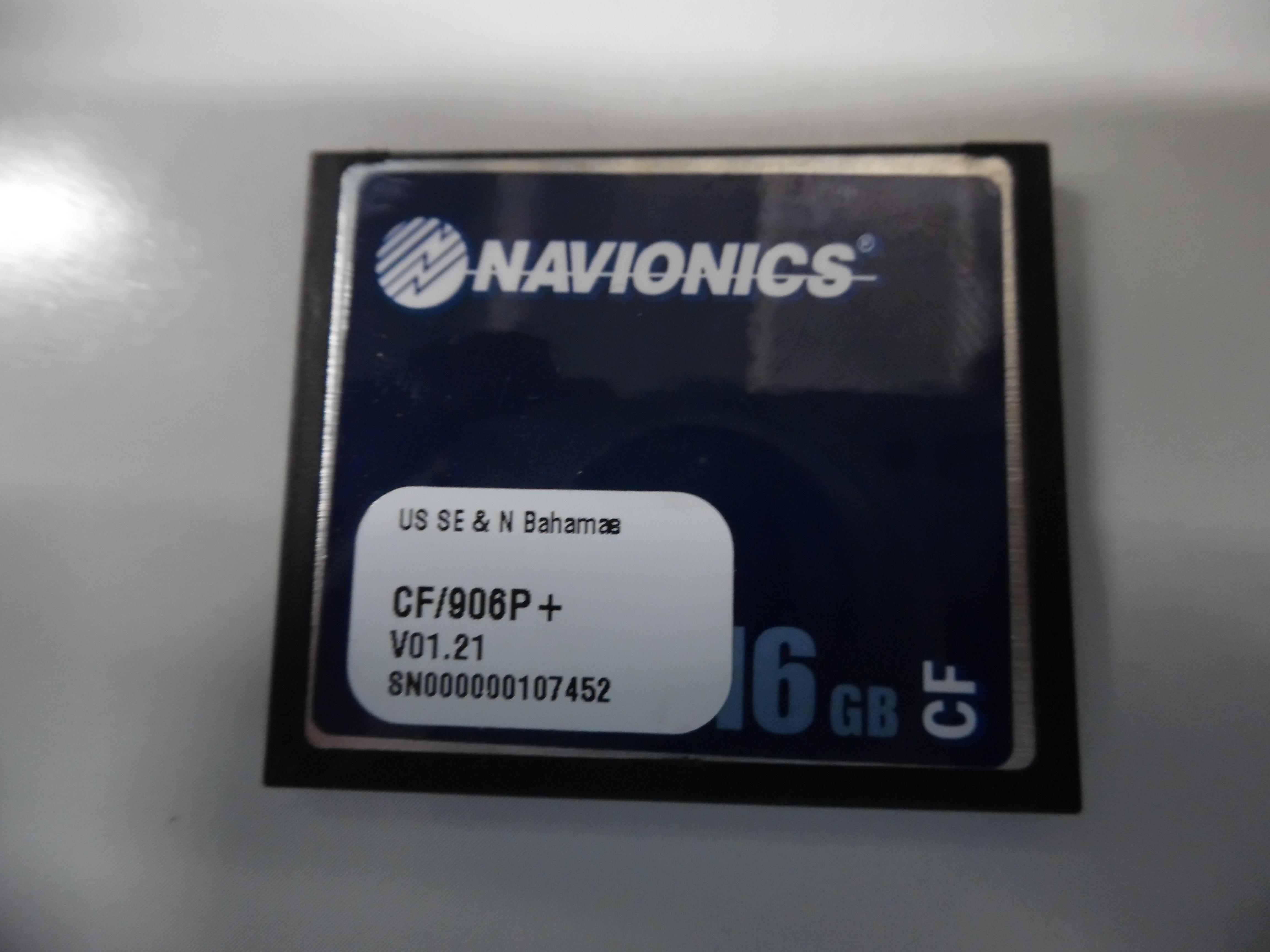 Navionics Platinum Plus Chart Card US SE & N Bahamas CF/906P+ 16Gb Great  Cond