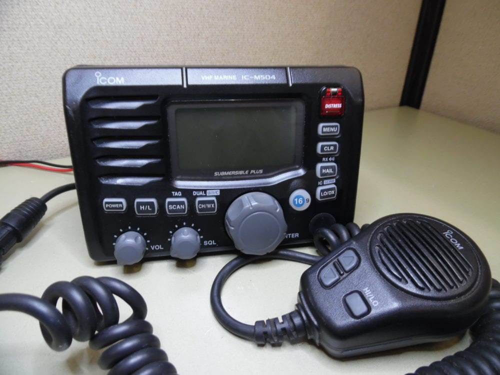 Icom IC-M504 Marine VHF Radio w/ Mic -TESTED- 90 Day Warranty