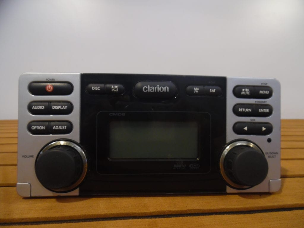 Clarion Cmd6 Marine Stereo Head Unit W   Wire Harness