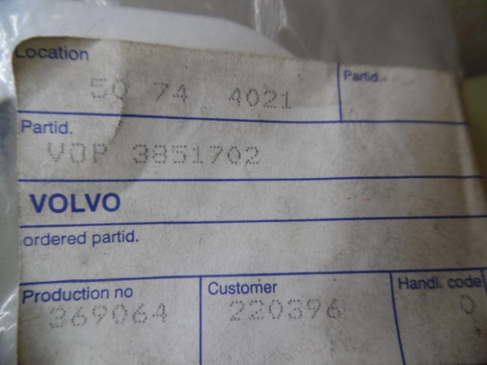 Genuine Volvo Penta 3851702 OEM WATER PUMP GASKET - FREE US SHIPPING