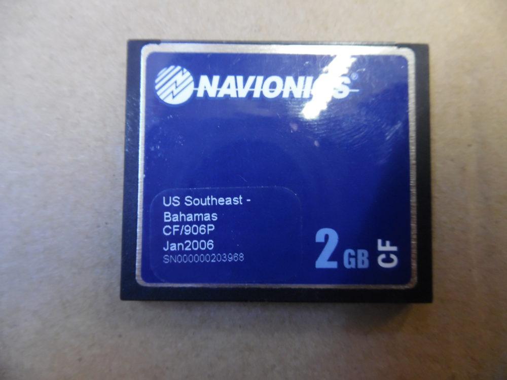 Navionics Platinum CF Chart Card US Southeast - Bahamas CF/906P 2GB Good  Cond