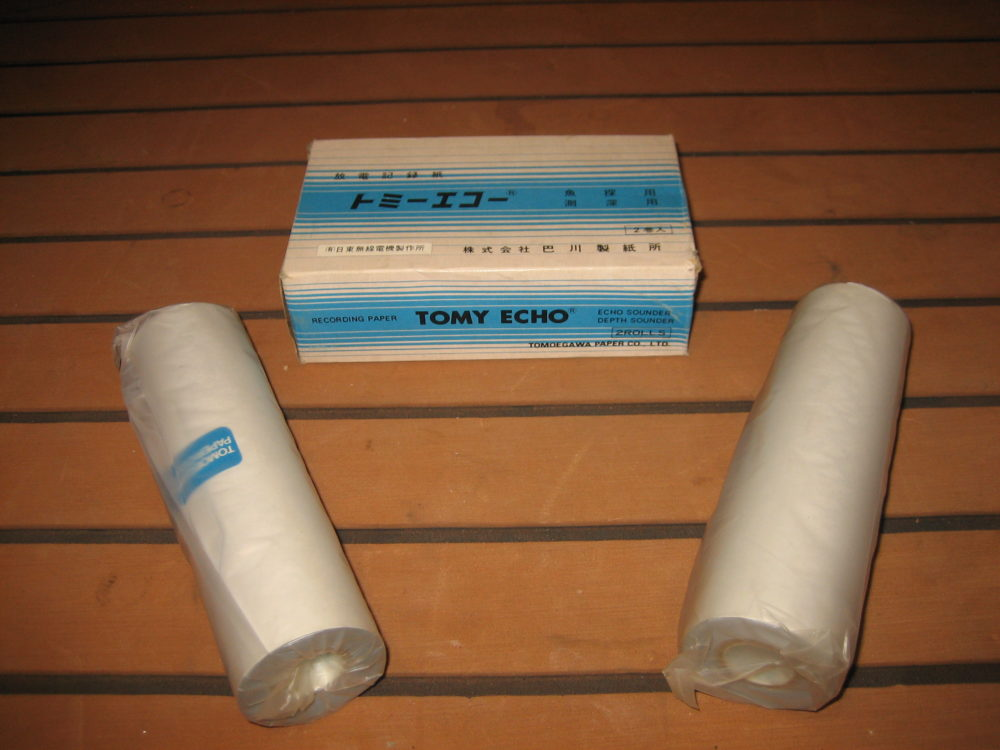 LOT OF 2 Rolls Dry Recording Paper Tomy Echo Tomoegawa - NEW OLD STOCK - 5  7/8
