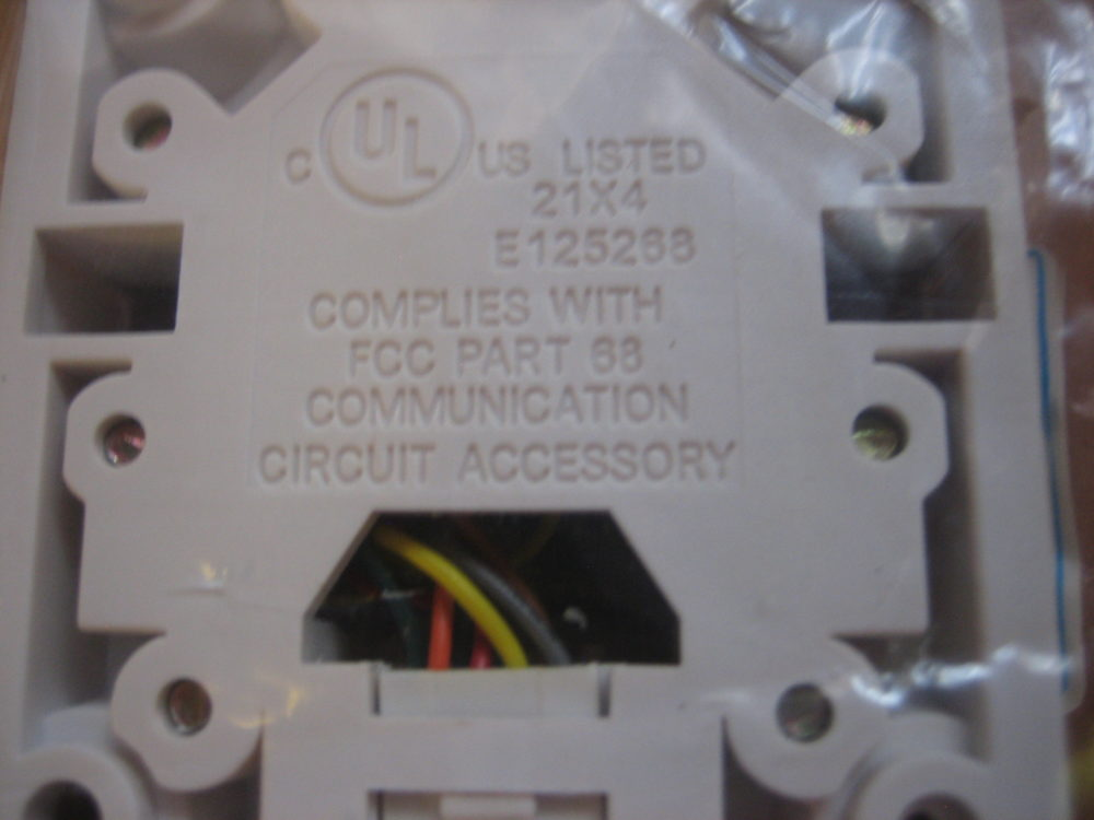 [SCHEMATICS_4UK]  ICC #68 Wall Phone Jack - 4 Wire w/Wiring Diagram - Lot of 6 - Free  Shipping - Max Marine Electronics   Icc Jack Wiring Diagram      Max Marine Electronics