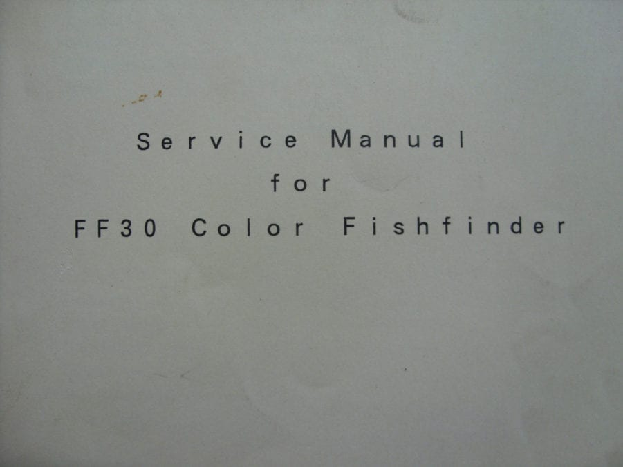 Jrc japan radio co soft cover color fish finder ff30 instruction.
