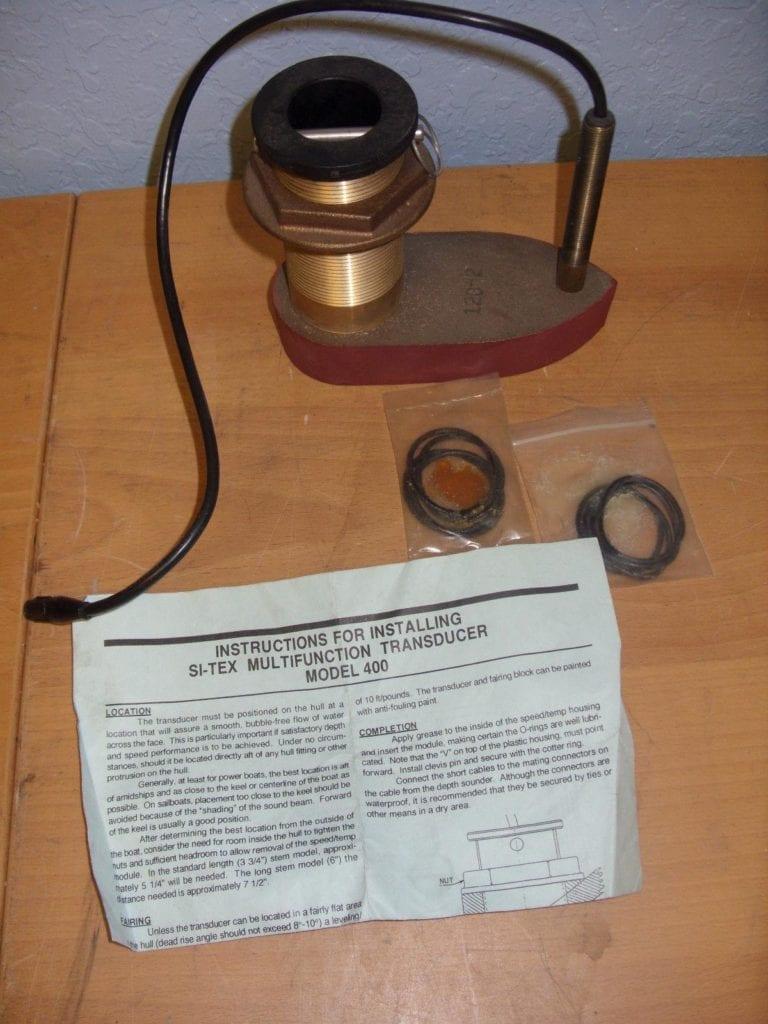 Si-Tex 120 khz Dual Stem Model 400 Transducer - Thru Hull - Not Complete -  Max Marine Electronics