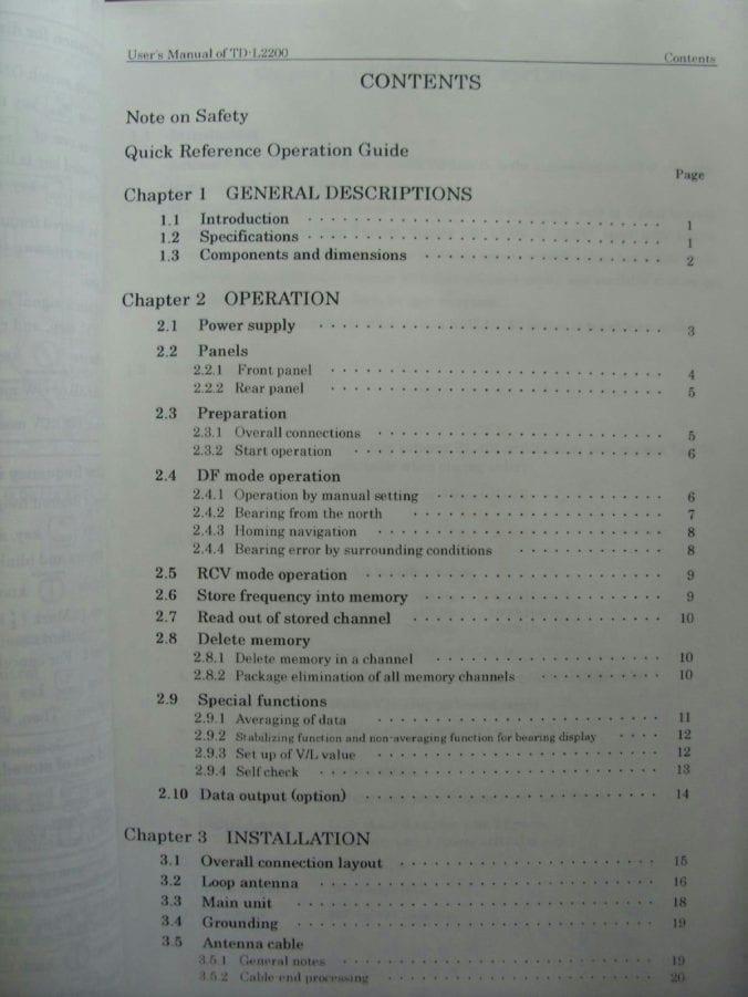 Taiyo Direction Finder Manual