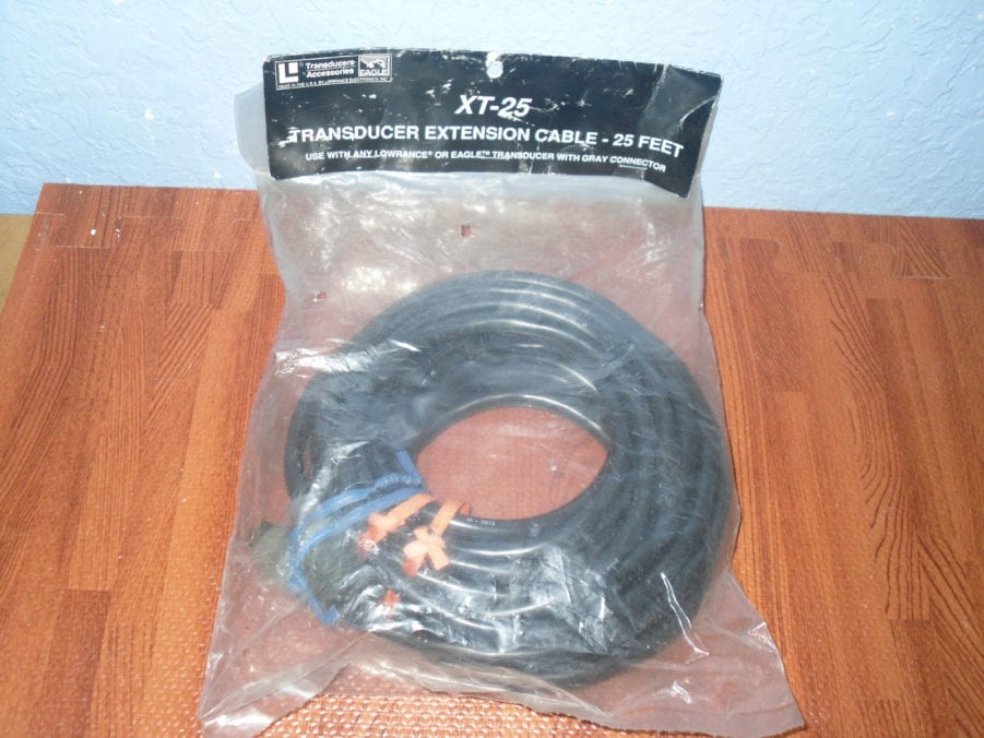 LOWRANCE LEI EAGLE XT-25 / 25ft Transducer Extension Cable Gray Connector