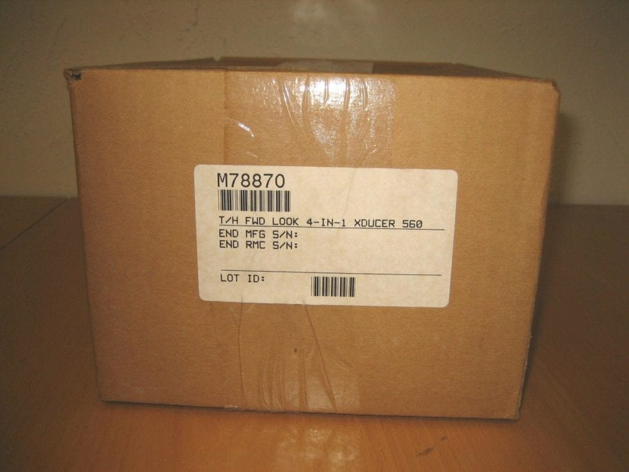 xducer M78870 Thru-Hull Forward Looking Transducer NEW /& COMPLETE Apelco 560