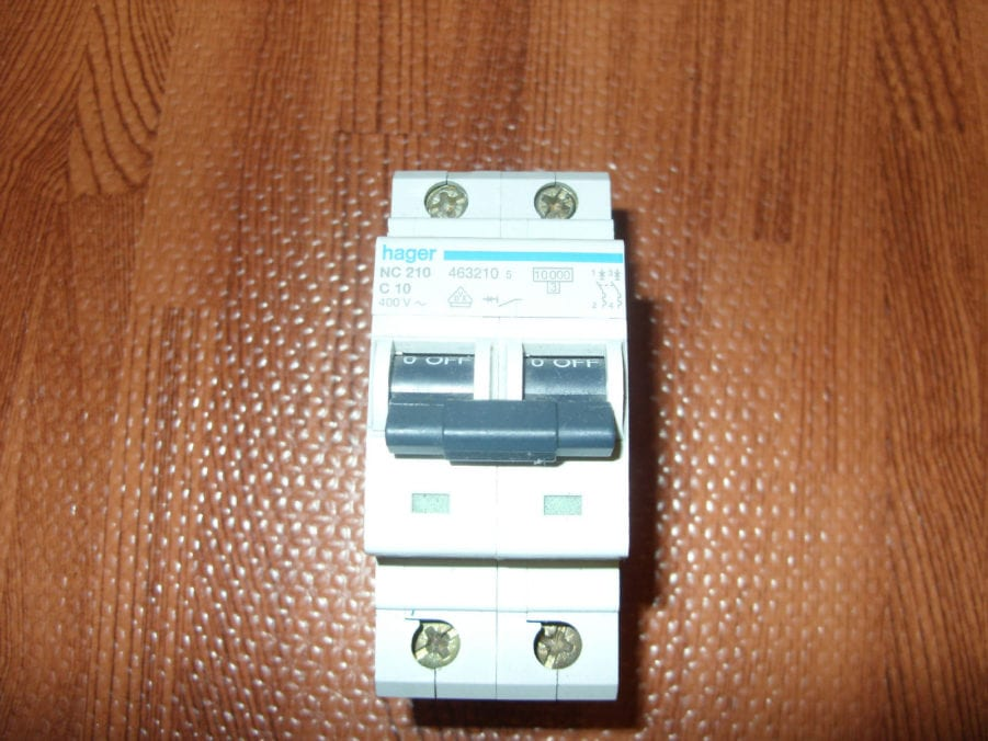 Hager nc 210 c 10 circuit breaker type c double pole 10 amp din hager nc 210 c 10 circuit cheapraybanclubmaster Images
