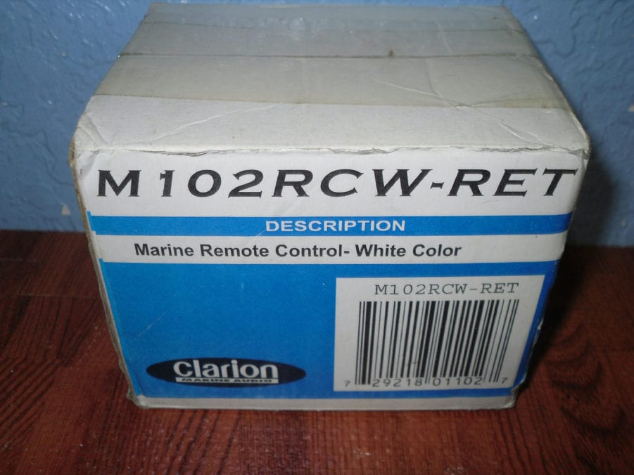 Clarion NEW Remote - M102RCW-RET Marine Wired Remote Control - Max ...